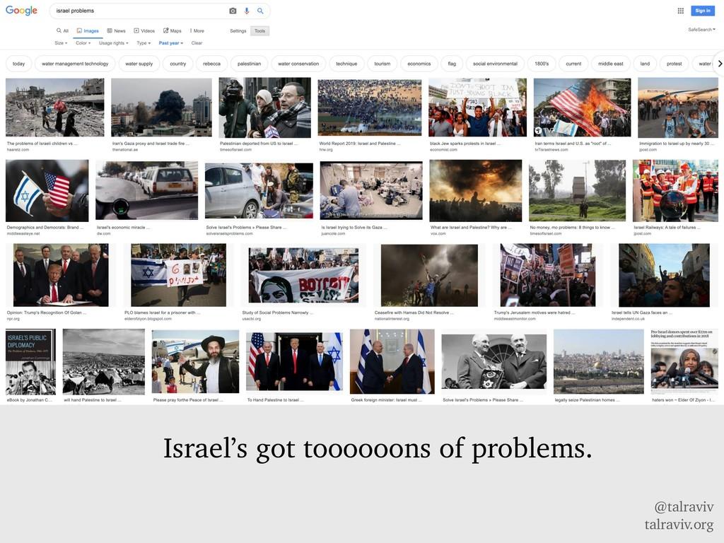 @talraviv talraviv.org Israel's got toooooons o...