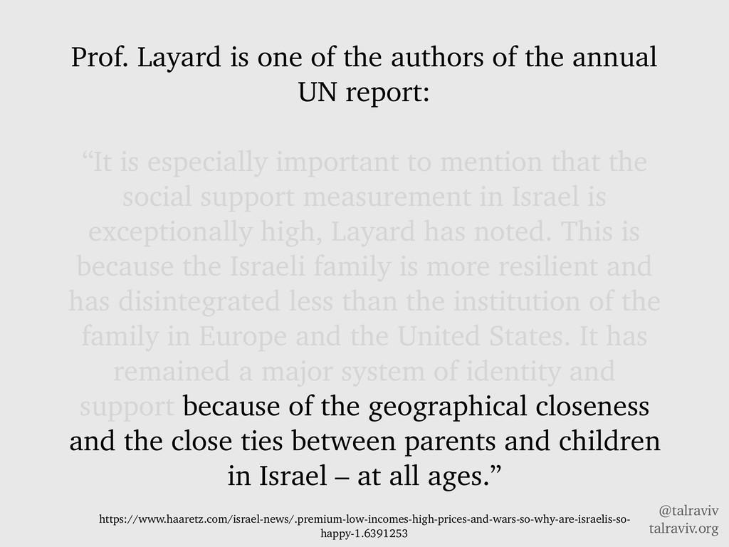 @talraviv talraviv.org Prof. Layard is one of t...