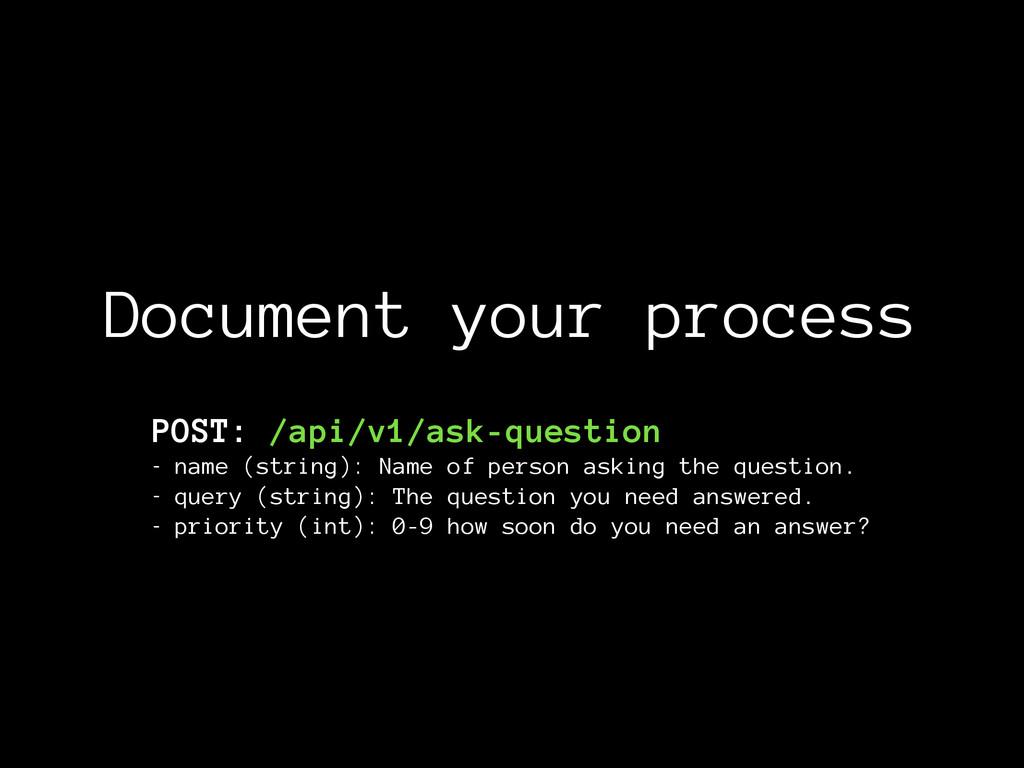 Document your process POST: /api/v1/ask-questio...