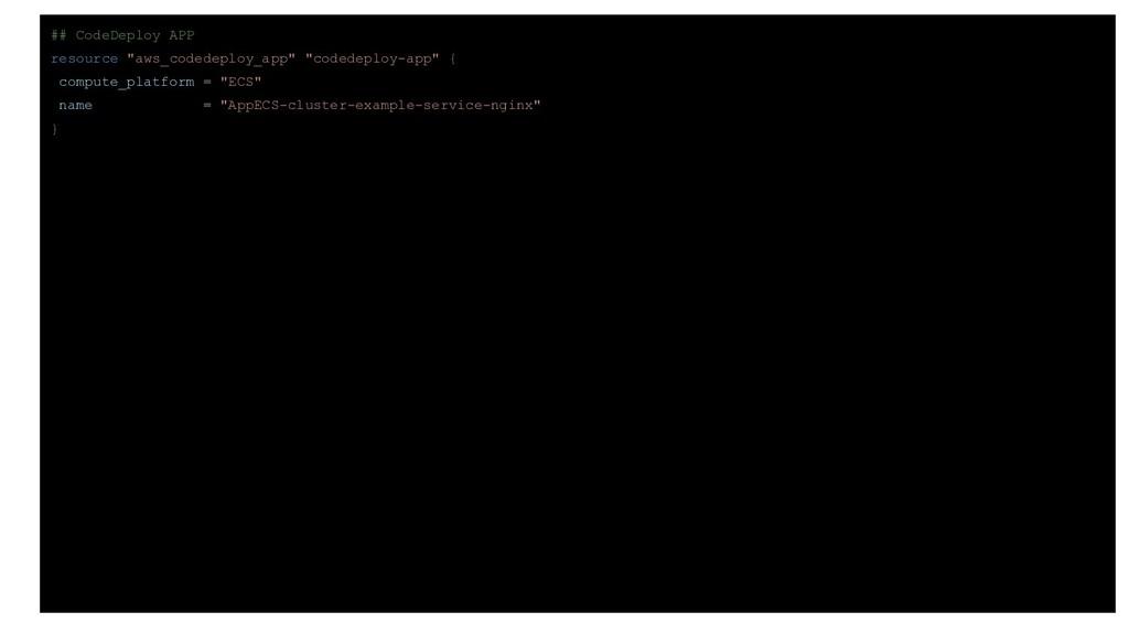 "## CodeDeploy APP resource ""aws_codedeploy_app""..."