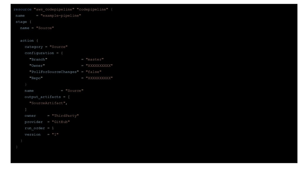 """resource """"aws_codepipeline"""" """"codepipeline"""" { na..."""