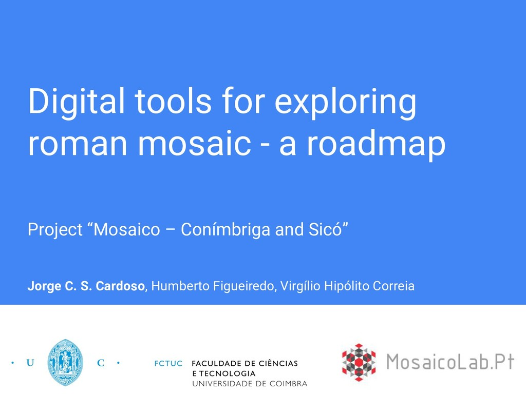 Digital tools for exploring roman mosaic - a ro...