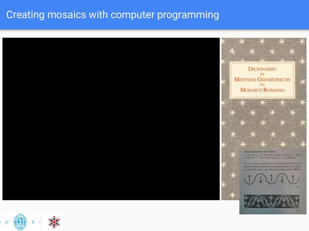 Creating mosaics with computer programming