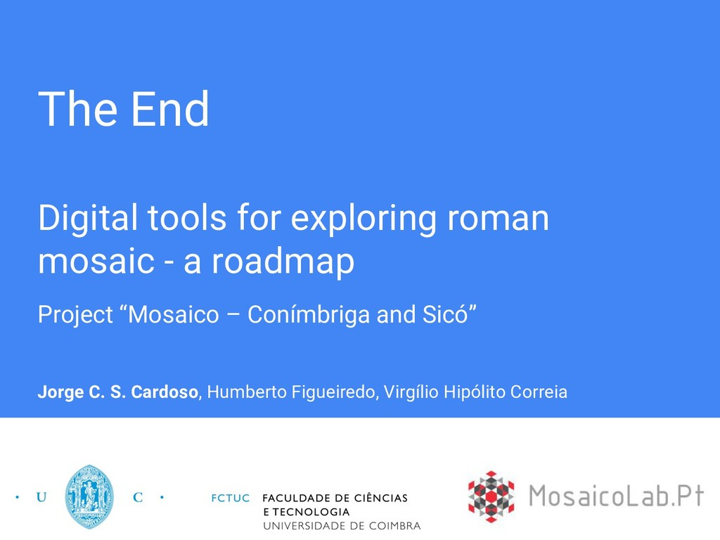 The End Digital tools for exploring roman mosai...