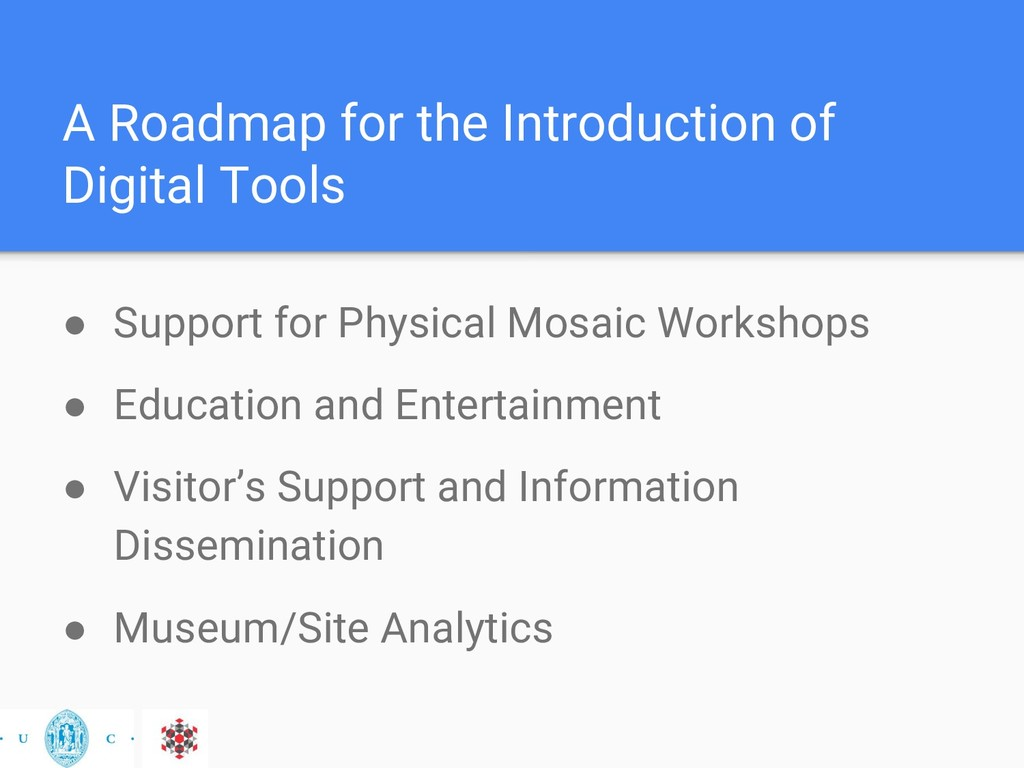 A Roadmap for the Introduction of Digital Tools...