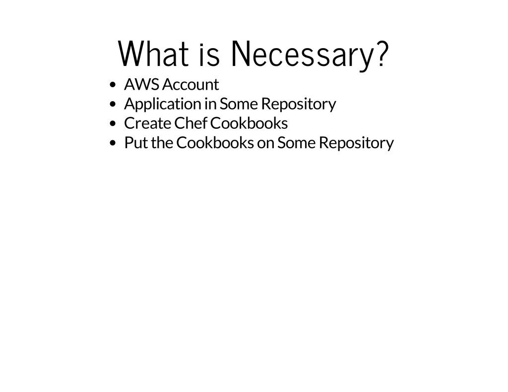 What is Necessary? AWS Account Application in S...