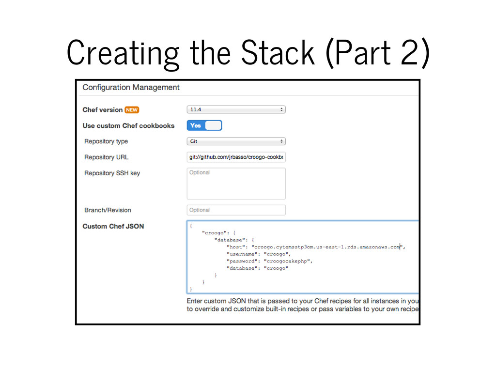 Creating the Stack (Part 2)
