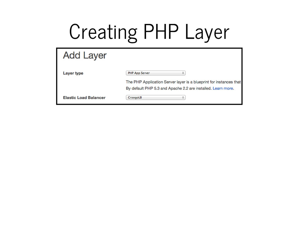 Creating PHP Layer
