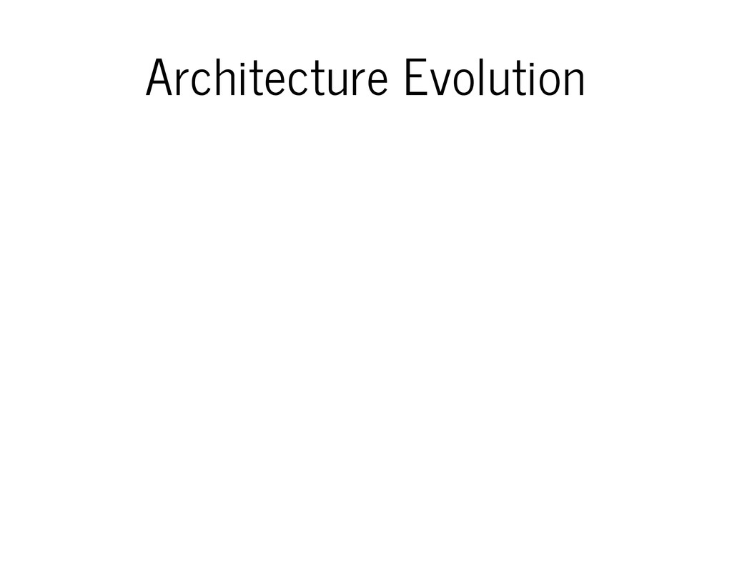 Architecture Evolution