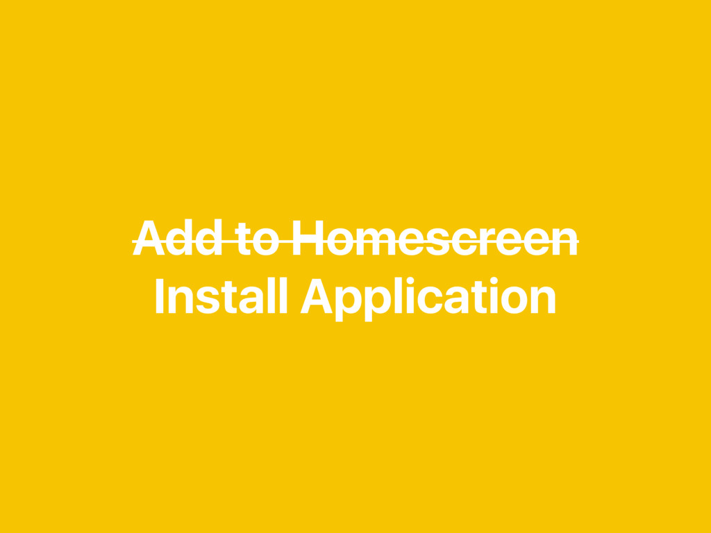 Add to Homescreen Install Application