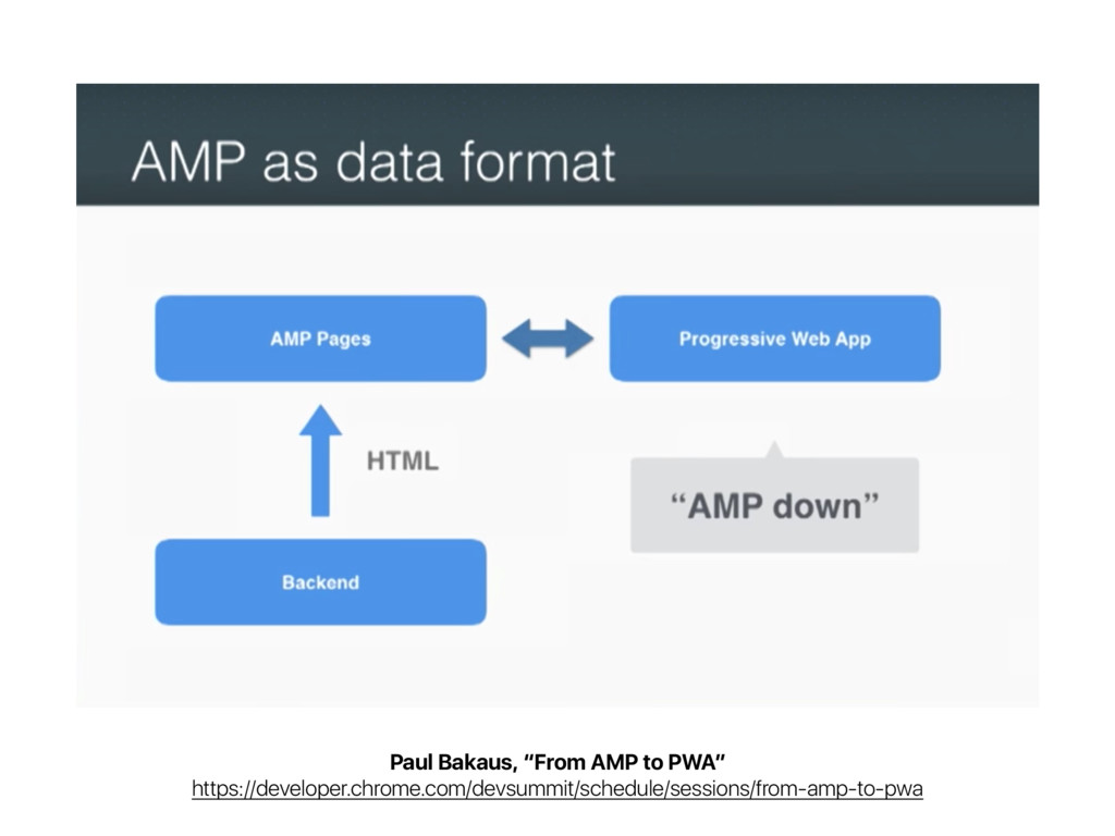 """Paul Bakaus, """"From AMP to PWA"""" https://develope..."""