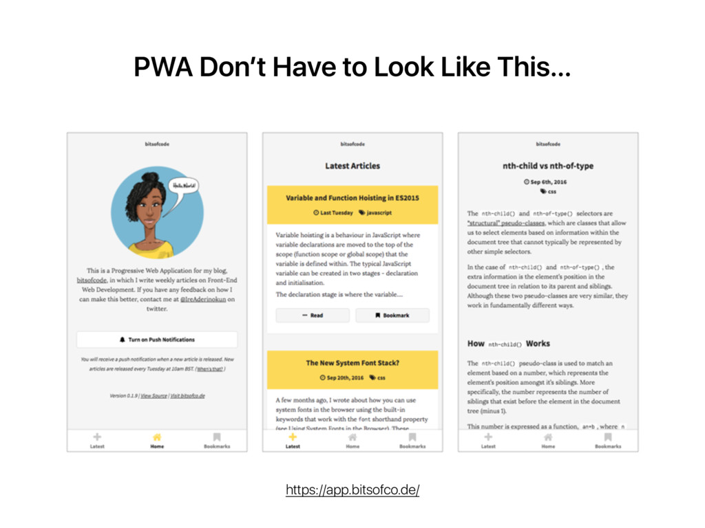 PWA Don't Have to Look Like This… https://app.b...