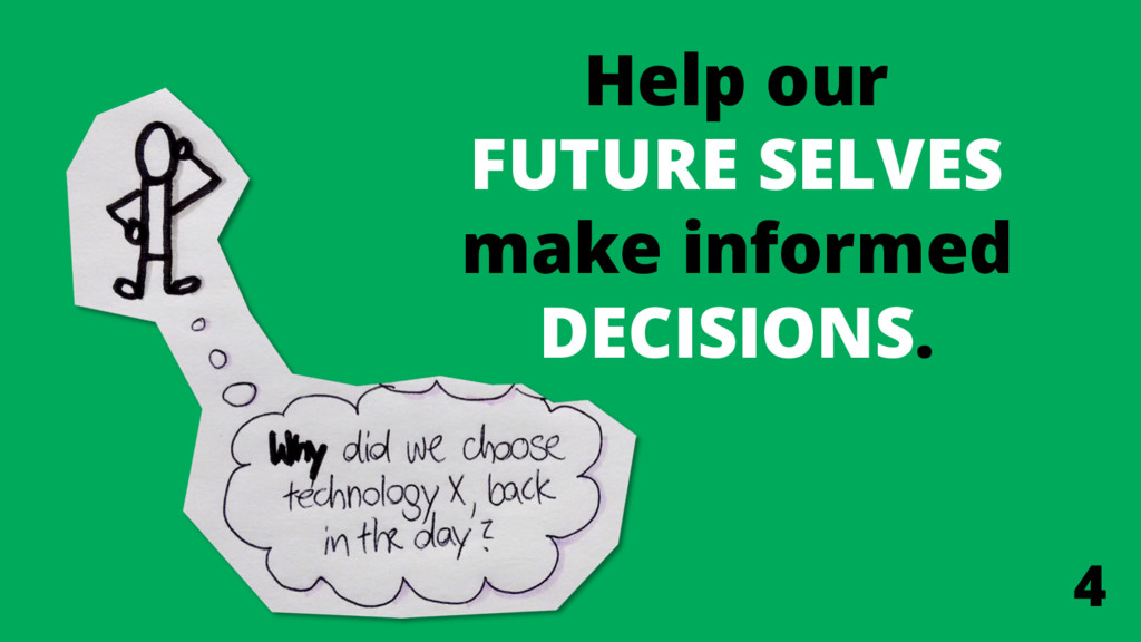 Help our FUTURE SELVES make informed DECISIONS....