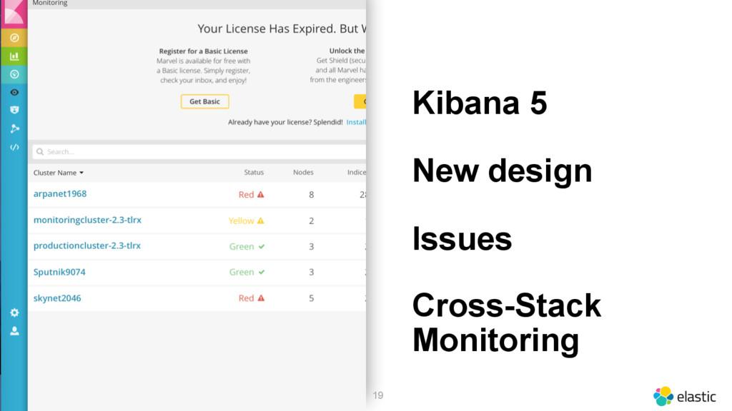 19 Kibana 5 New design Issues Cross-Stack Monit...