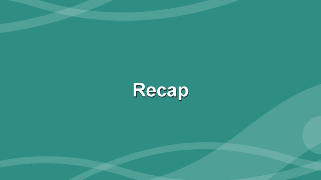 ‹#› Recap