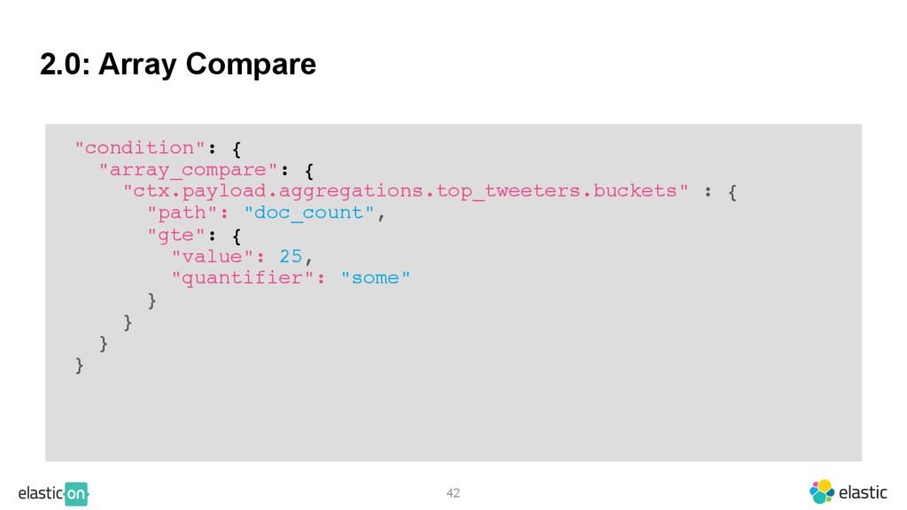 """2.0: Array Compare 42 """"condition"""": { """"array_com..."""