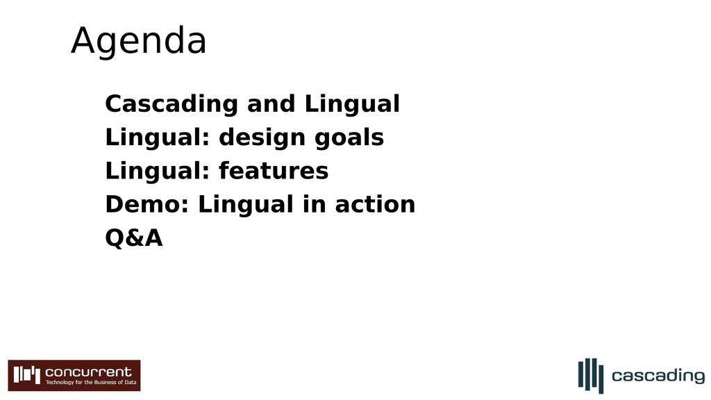 Agenda Cascading and Lingual Lingual: design go...
