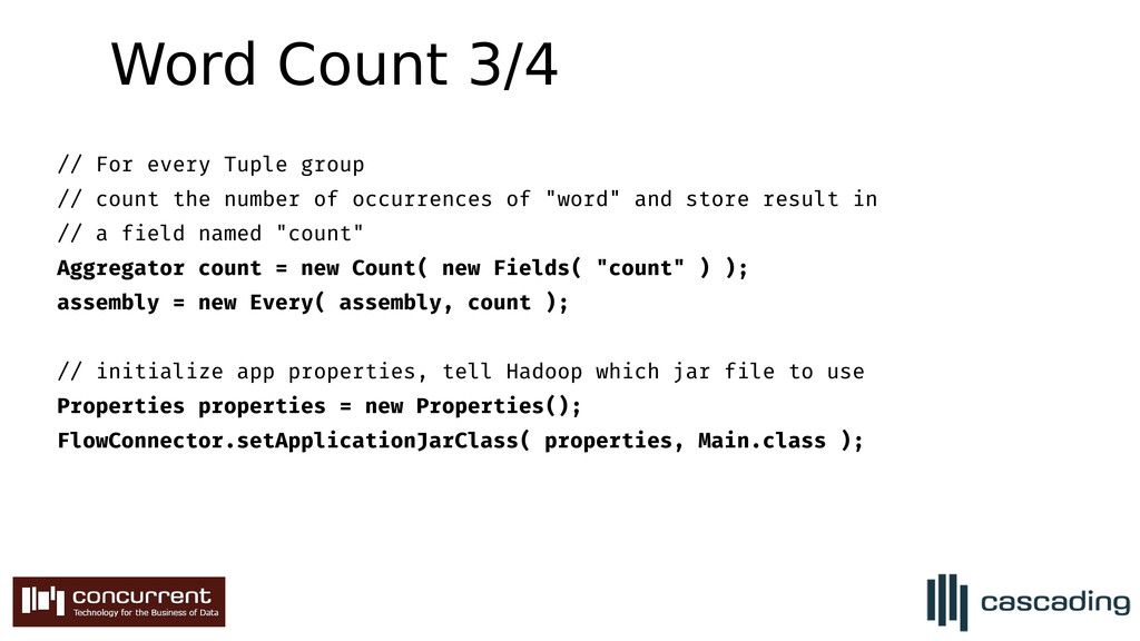 // For every Tuple group // count the number of...