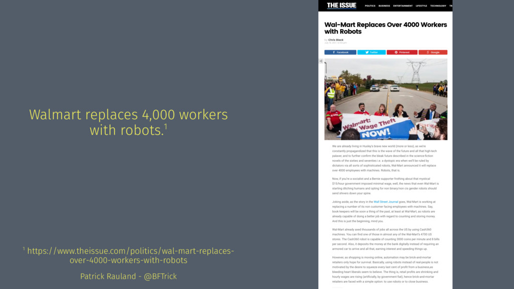 Walmart replaces 4,000 workers with robots.1 1 ...