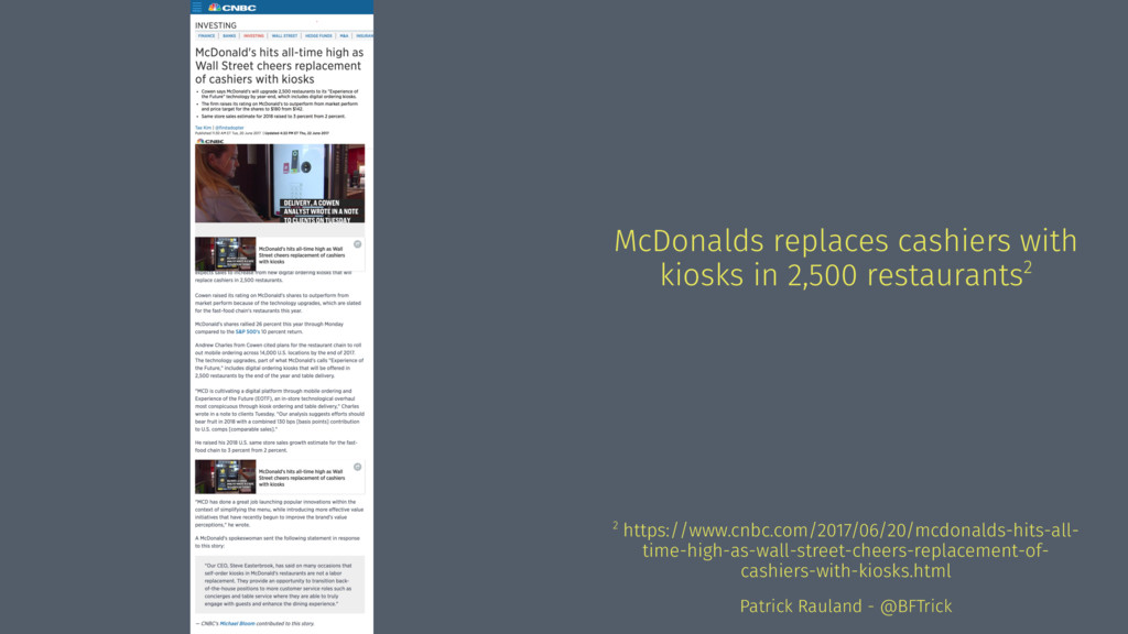 McDonalds replaces cashiers with kiosks in 2,50...