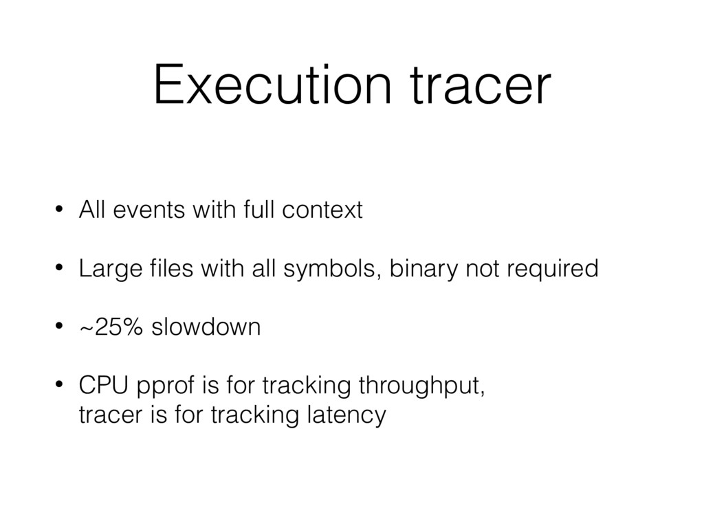 Execution tracer • All events with full context...