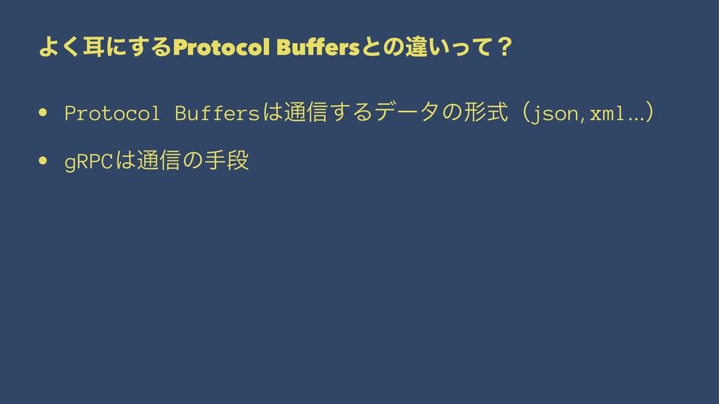 Αࣖ͘ʹ͢ΔProtocol Buffersͱͷҧ͍ͬͯʁ • Protocol Buffer...