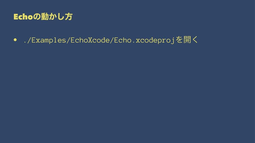 Echoͷಈ͔͠ํ • ./Examples/EchoXcode/Echo.xcodeproj...