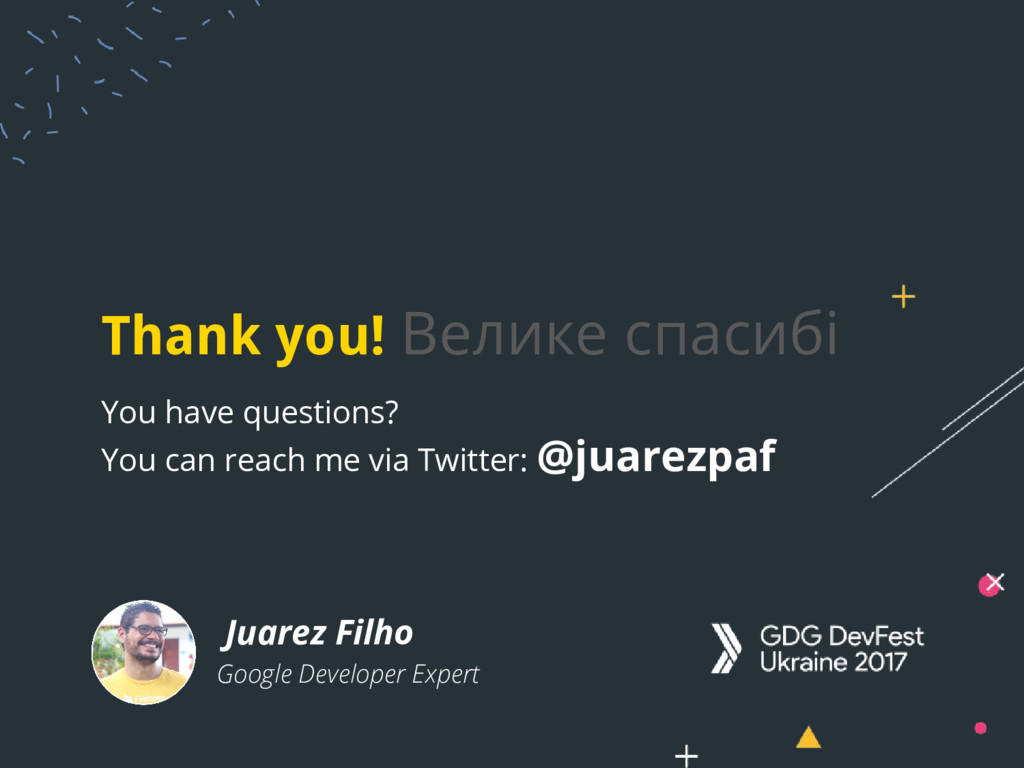 Thank you! Велике спасибі You have questions? Y...