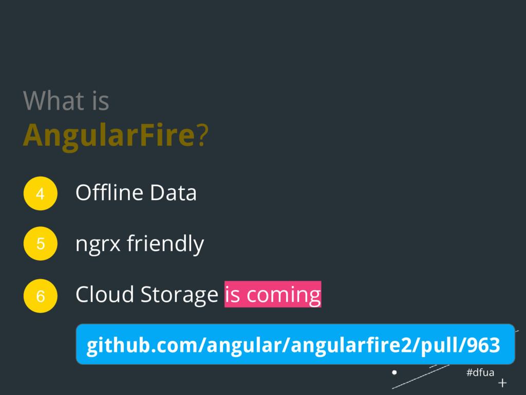#dfua What is AngularFire? Offline Data ngrx fr...