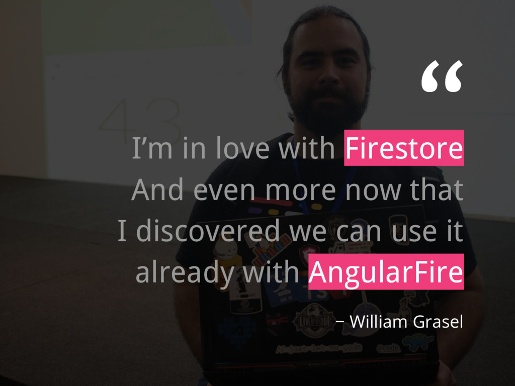 """"""" I'm in love with Firestore And even more now ..."""