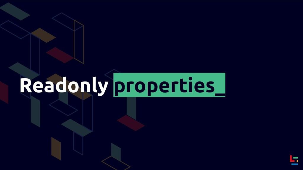 Readonly properties_