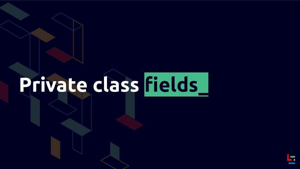 Private class fields_