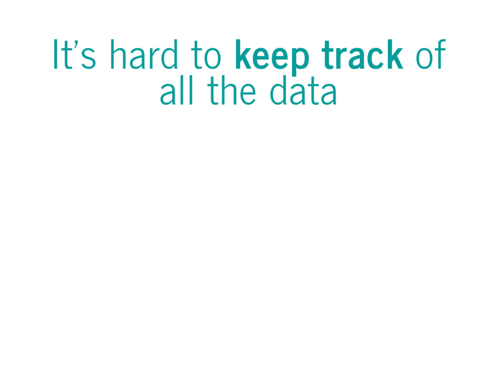It's hard to keep track of all the data