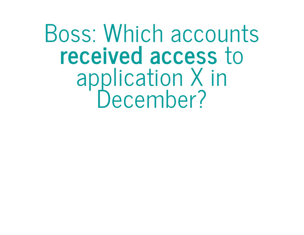 Boss: Which accounts received access to applica...