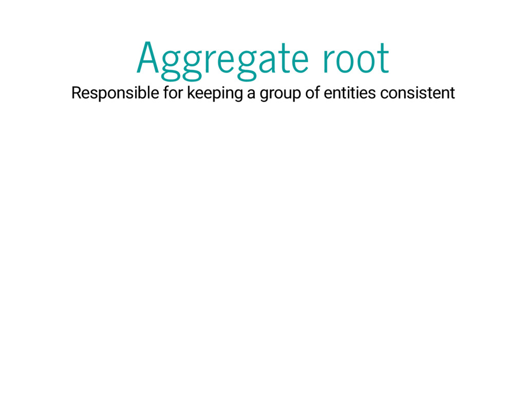 Aggregate root Responsible for keeping a group ...