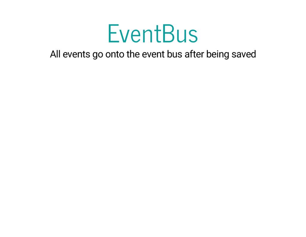 EventBus All events go onto the event bus after...