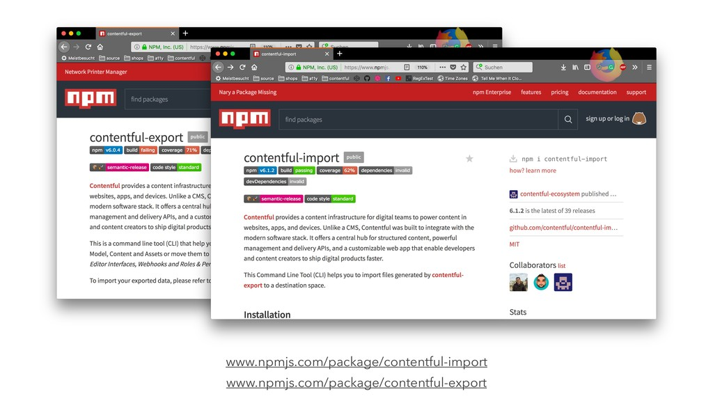 www.npmjs.com/package/contentful-import www.npm...