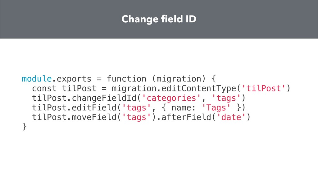 module.exports = function (migration) { const t...