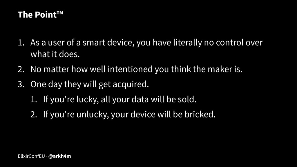 The Point™ 1. As a user of a smart device, you ...