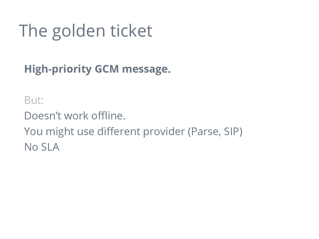 The golden ticket High-priority GCM message. Bu...