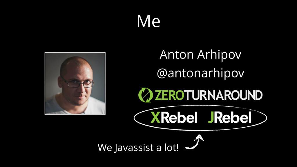 Me Anton Arhipov @antonarhipov We Javassist a l...