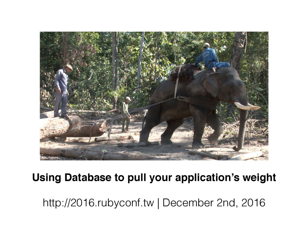 Using Database to pull your application's weigh...