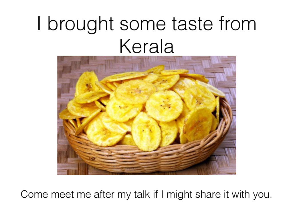 I brought some taste from Kerala Come meet me a...