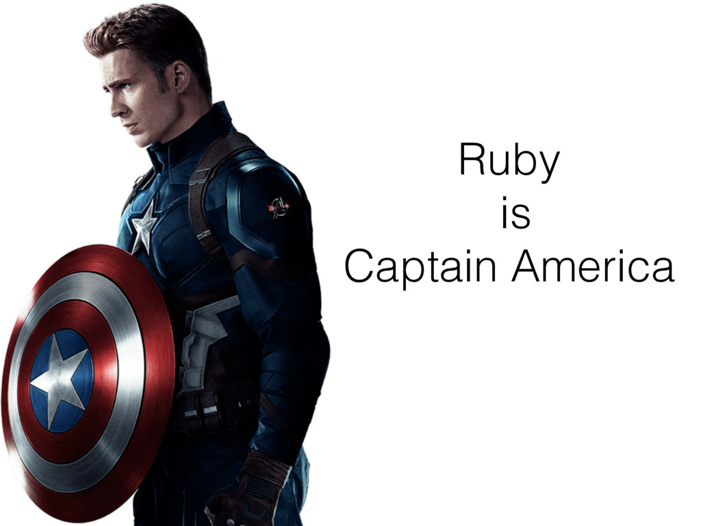 Ruby is Captain America