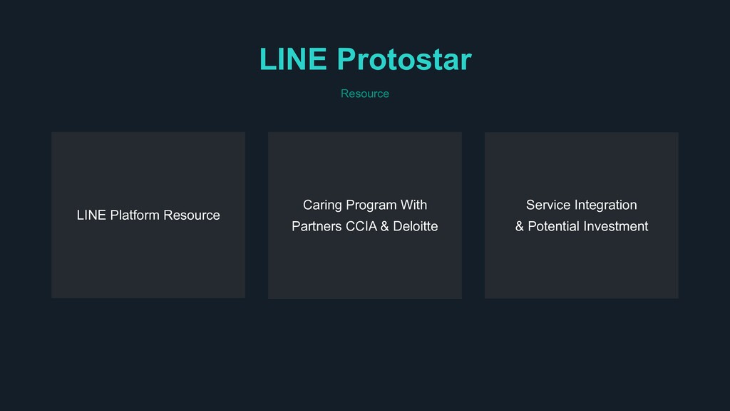 LINE Protostar Resource Caring Program With Par...