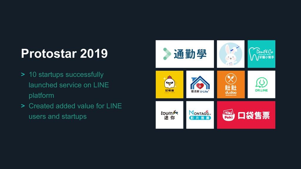 Protostar 2019 > 10 startups successfully launc...