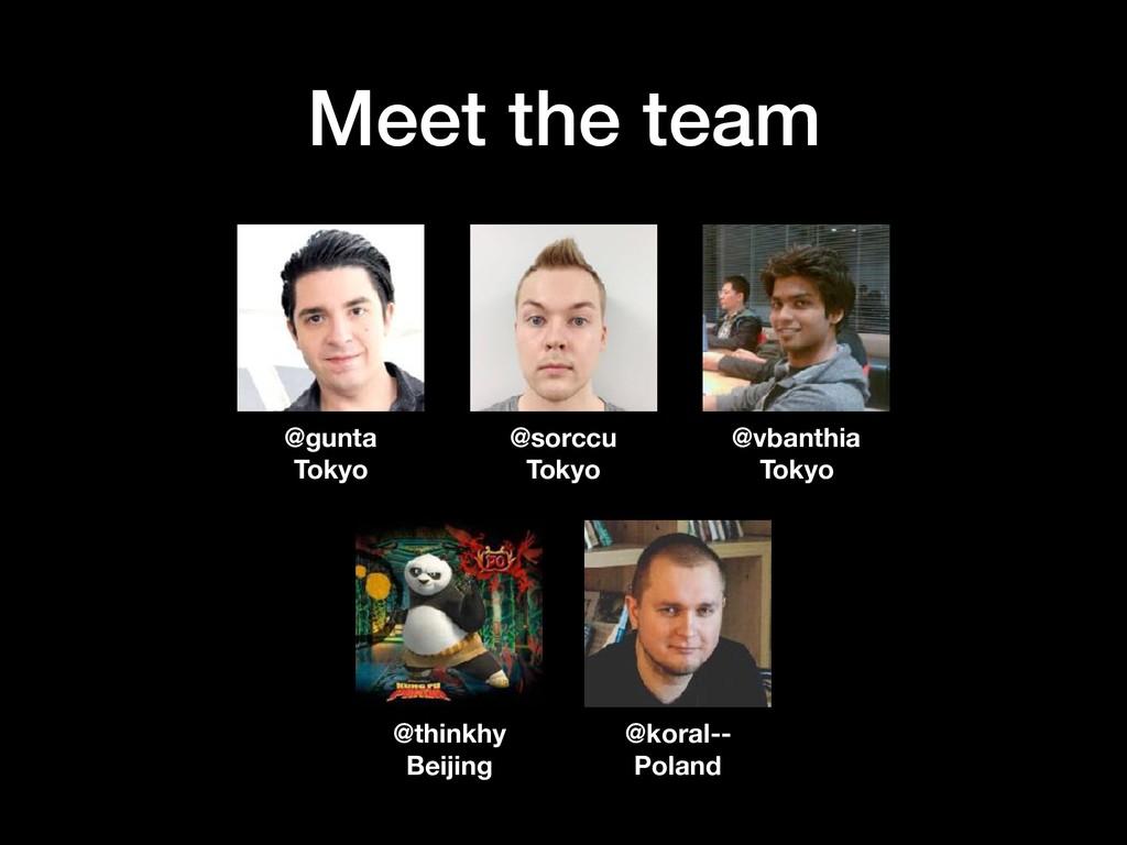 Meet the team @sorccu Tokyo @gunta Tokyo @vbant...