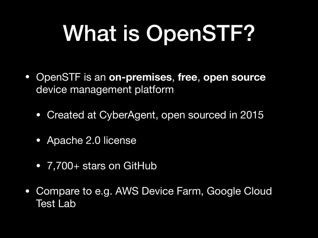 What is OpenSTF? • OpenSTF is an on-premises, f...