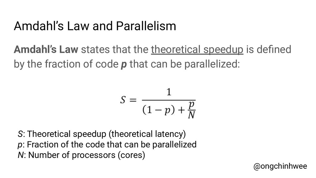 Amdahl's Law and Parallelism Amdahl's Law state...
