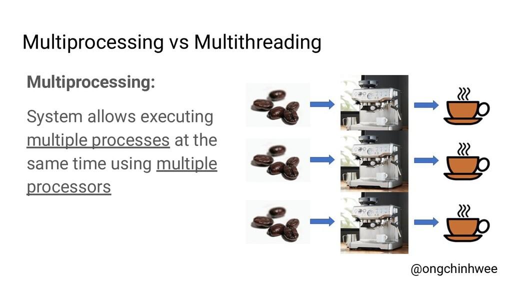 Multiprocessing vs Multithreading @ongchinhwee ...